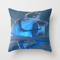niall horan Throw Pillows featuring Niall Horan 3 by Halle