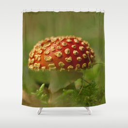 Amanita In The Woodland Grove... Shower Curtain