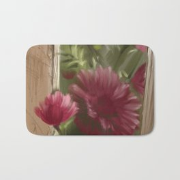 Aster at the fence Bath Mat