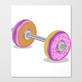 Donut Weight Artwork Canvas Print
