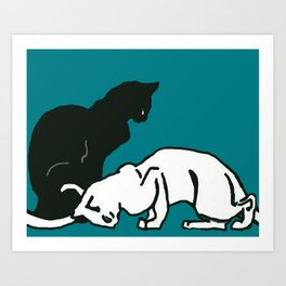 "Théophile Steinlen  ""Frise de chats"" (edited)(5) Art Print"
