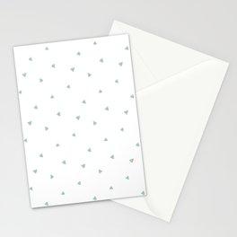 Soft Mint Triangle Pattern Stationery Cards