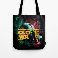 starwars Tote Bags featuring STARWARS by Burcu Korkmazyurek