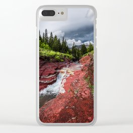 Waterton Red Rock Canyon Photography Clear iPhone Case
