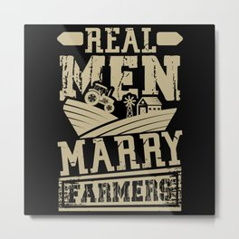Men marry Farmers Metal Print
