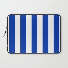 UA blue - solid color - white vertical lines pattern Laptop Sleeve