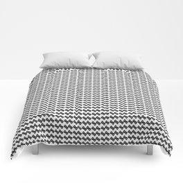 BW flower pattern 1 Comforters