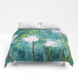 Abstract Dandelions WISH Comforters
