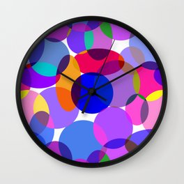 Pink and Purple Toned Layered Circles! Wall Clock