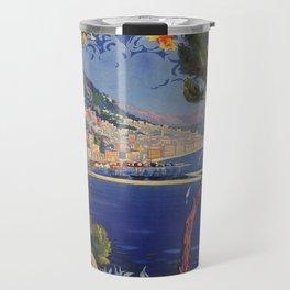 Salerno Italy vintage summer travel ad Travel Mug