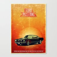 mustang Canvas Prints featuring Mustang by The83juice
