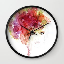 Flower B Wall Clock