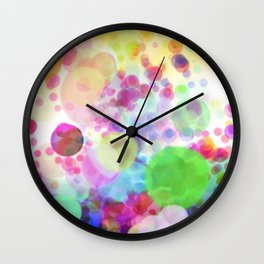 Happy Colorful Cells Wall Clock