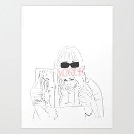 Anna Fashion Editor Art Print