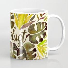 Tropical Wanderlust – Yellow & Olive Palette Coffee Mug