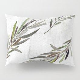 Eucalyptus Leaves White Pillow Sham