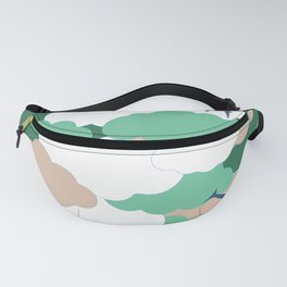 Clouds and planes Fanny Pack
