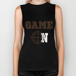 Funny Laser Tag Party T-Shirt Mode On Game on Biker Tank