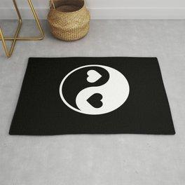Yin Yang Black & White Rug