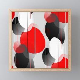 Modern Anxiety Abstract - Red, Black, Gray Framed Mini Art Print