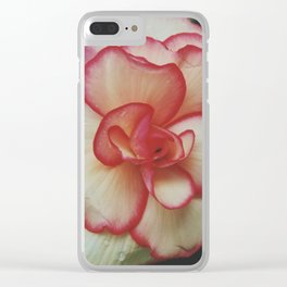 Raindrops on Roses Clear iPhone Case