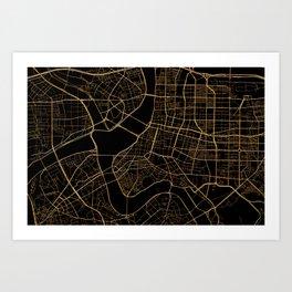 Taipei map, Taiwan Art Print