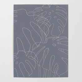 Monstera No2 Gray Edition Poster