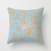 marine Throw Pillows featuring marine by Maritserg