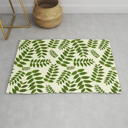 Green Leaf Pattern Rug