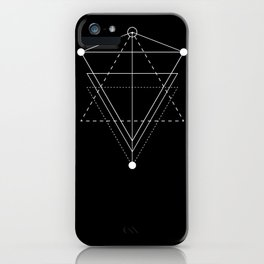 Triangle Planets Black iPhone Case