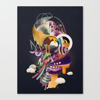 homer Canvas Prints featuring HOMER ON ACID by Mathis Rekowski