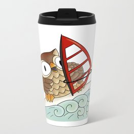 On the crest of a wave Metal Travel Mug