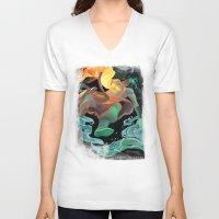 avatar V-neck T-shirts featuring Avatar by Andrea Montano