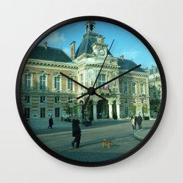 Walking the Dog, Paris - 19th arrondisement Wall Clock