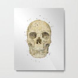 Geometric - Skull Metal Print