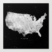 usa Canvas Prints featuring USA by Farnell