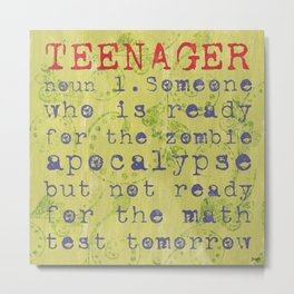 Teenager Metal Print