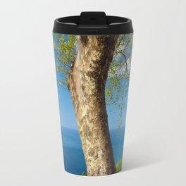 Trees overlooking the ocean Travel Mug