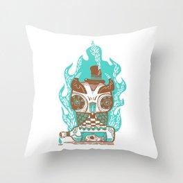 Good to the Last Drop - Chocqua Owl Throw Pillow