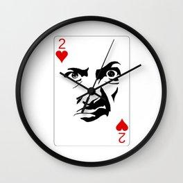 Scrunchy Face Card Wall Clock