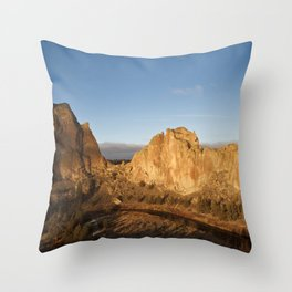 Smith Rock Sunrise II Throw Pillow