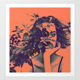 BehindPlant. Art Print