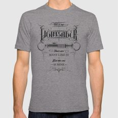 This is my Lightsaber II Tri-Grey Mens Fitted Tee MEDIUM