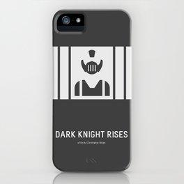 Flat Christopher Nolan movie poster: Dark K. R. iPhone Case