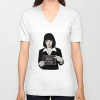 mia wallace V-neck T-shirts featuring Mia by Sofia Bonati