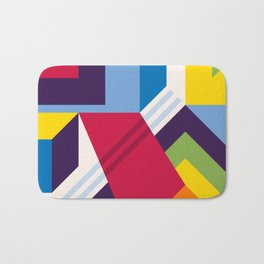 Abstract modern geometric background. Composition 13 Bath Mat