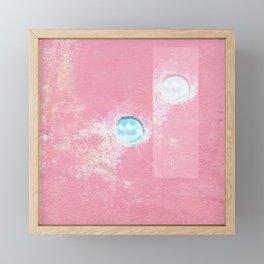 Pink Concrete Framed Mini Art Print