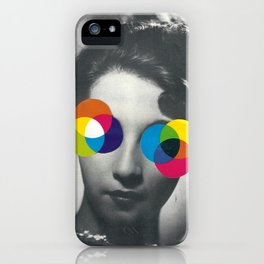 Psychedelic glasses iPhone Case