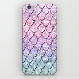 Mermaid Scales on Unicorn Girls Glitter #1 #shiny #pastel #decor #art #society6 iPhone Skin