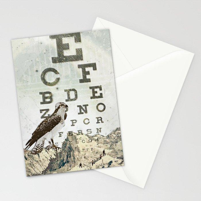 eye chart II Stationery Cards